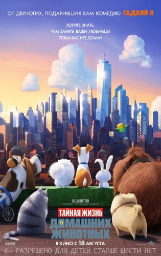 ������ ����� �������� �������� / The Secret Life of Pets (2016) HD-�������